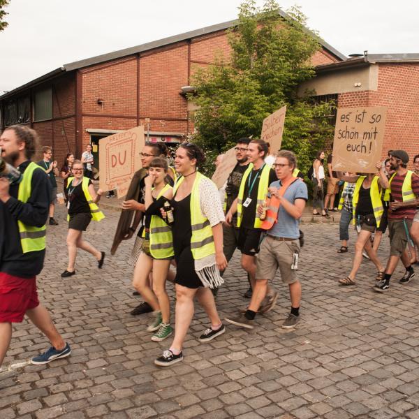 Demo für Kultur auf der Kaserne