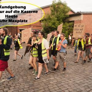 Kundgebung Kultur auf die Kaserne